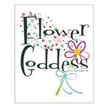 Flower Goddess Small Poster