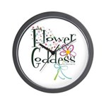 Flower Goddess Wall Clock