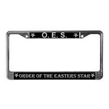 OES Black License Plate Frame