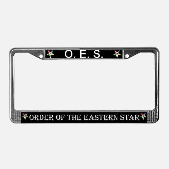 OES Black License Plate Frame