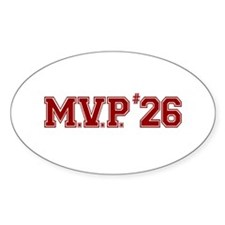 Utley MVP Oval Decal