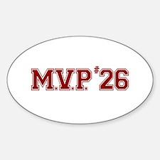 Utley MVP Oval Decal