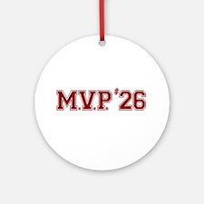 Utley MVP Ornament (Round)