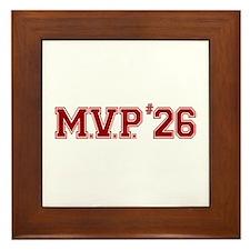Utley MVP Framed Tile