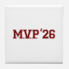 Utley MVP Tile Coaster