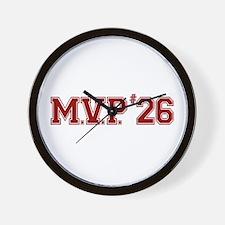 Utley MVP Wall Clock