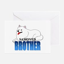 Samoyed Brother Greeting Card
