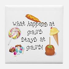 What Happens at Gran's... Tile Coaster