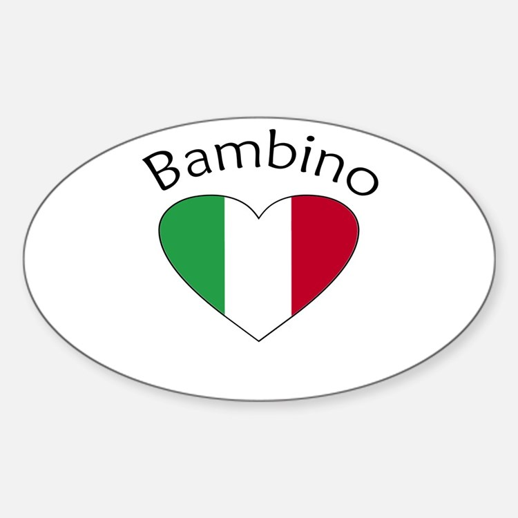 Bambino Heart Oval Decal