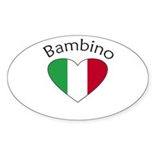 Bambino Heart Oval Stickers