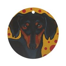 Chocolate Chip Dachshund Ornament (Round)