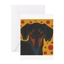 Chocolate Chip Dachshund Greeting Card