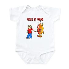 Cute Womens firefighter Infant Bodysuit