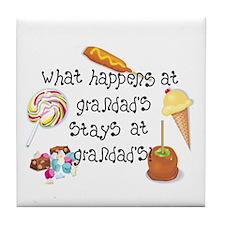 What Happens at Grandad's... Tile Coaster