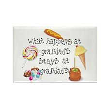 What Happens at Grandad's... Rectangle Magnet