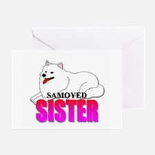 Samoyed Sister Greeting Card