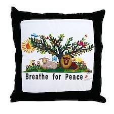Breathe for Peace - Throw Pillow