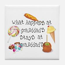 What Happens at Granddad's... Tile Coaster