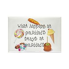 What Happens at Granddad's... Rectangle Magnet