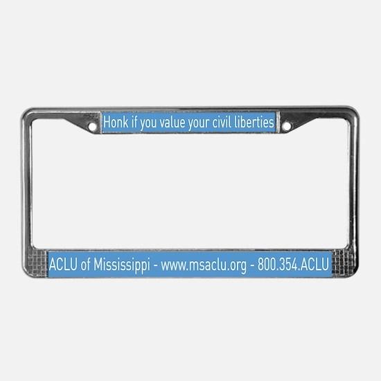 Funny Mississippi License Plate Frame