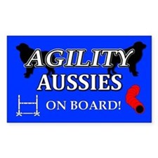 Aussie Agility Rectangle Decal