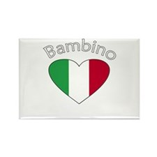 Bambino Heart 2 Rectangle Magnet