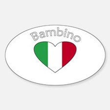 Bambino Heart 2 Oval Decal