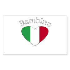 Bambino Heart 2 Rectangle Decal