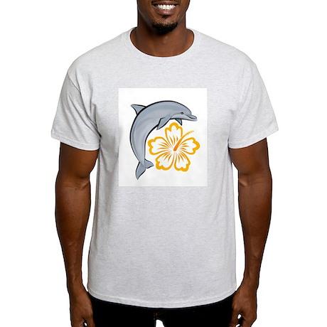 Orange Dolphin Hibiscus Light T-Shirt