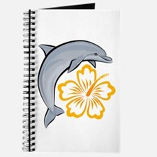 Orange Dolphin Hibiscus Journal
