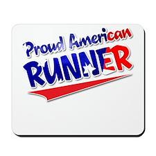 Proud American Runner Mousepad