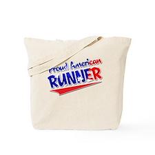 Proud American Runner Tote Bag