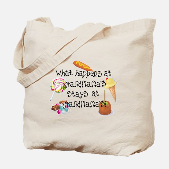 What Happens at Grandmama's... Tote Bag