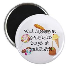 """What Happens at Grandmom's... 2.25"""" Magnet (10 pac"""