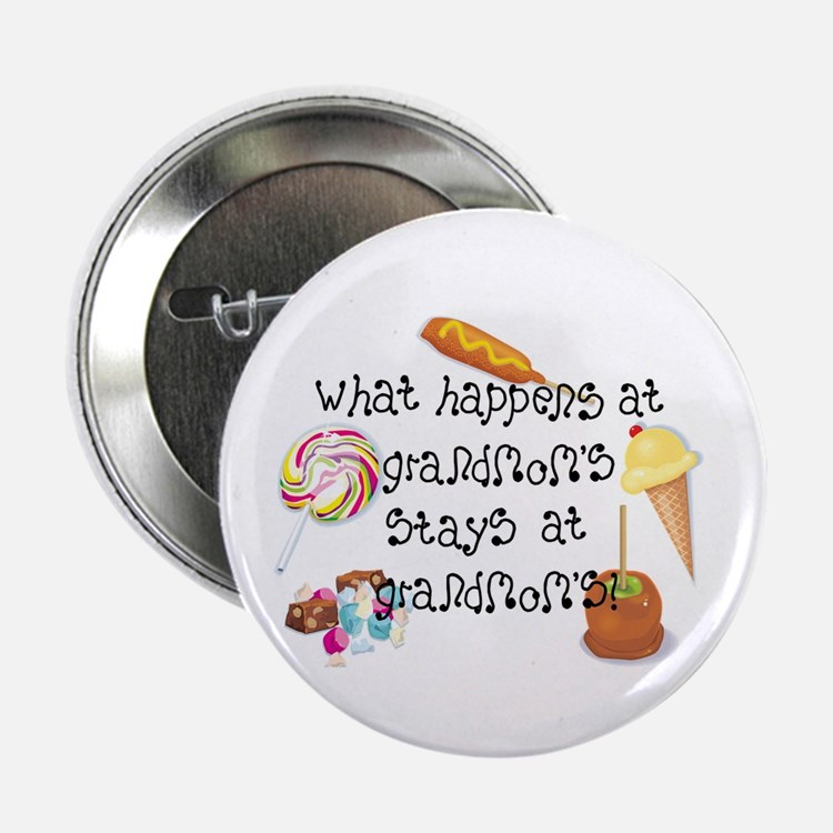 "What Happens at Grandmom's... 2.25"" Button (10 pac"
