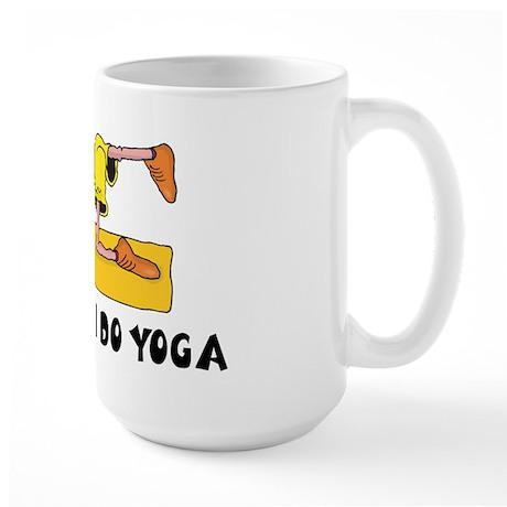 Trust Me I Do Yoga Large Mug