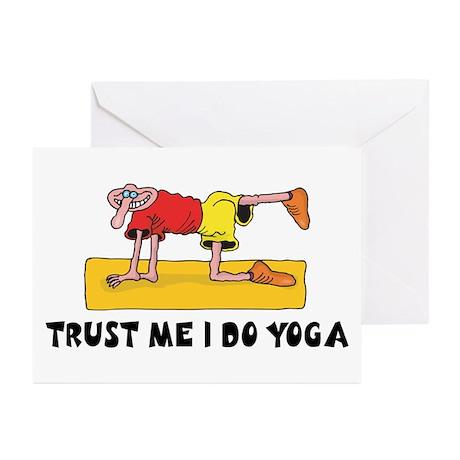 Trust Me I Do Yoga Greeting Cards (Pk of 10)