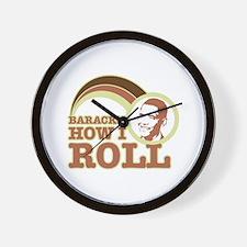 barack's how I roll Wall Clock