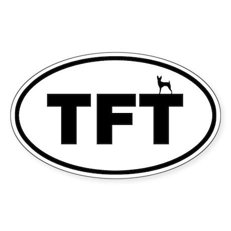 TFT (Toy Fox Terrier) Oval Sticker