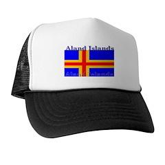 Aland Islands Flag Trucker Hat