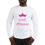 Greek Princess with Crown Long Sleeve T-Shirt