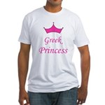 Greek Princess with Crown Fitted T-Shirt