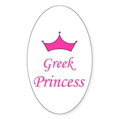 Greek Princess with Crown Oval Decal