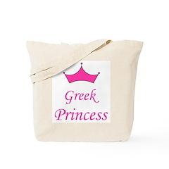 Greek Princess with Crown Tote Bag