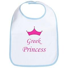 Greek Princess with Crown Bib