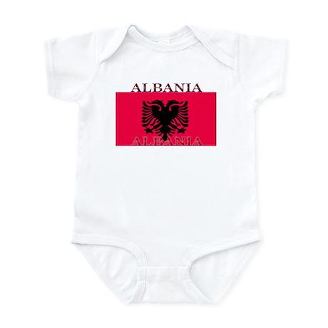 Albania Albanian Flag Infant Creeper