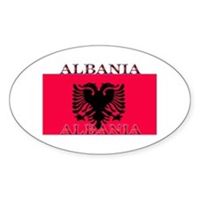 Albania Albanian Flag Oval Decal