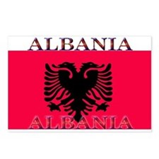 Albania Albanian Flag Postcards (Package of 8)