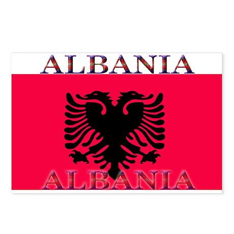 Albania Albanian Flag Postcards (Package of 8)