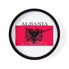 Albania Albanian Flag Wall Clock